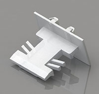 3/16 x 13/16 Inch (in) Flat Grid Clips
