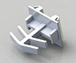 1/4 x 5/8 Inch (in) Flat Grid Clips