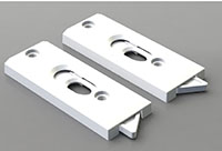 Top Mount Tilt Latches with Beveled Edges No Lock