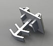 3/8 x 7/16 Inch (in) Flat Grid Clips