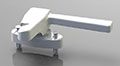 Assembled Left Hand Hopper Window Handles